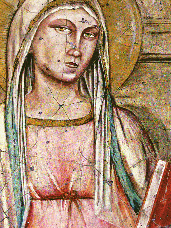 Spiritual Painting - Madonna Del Parto - Study No. 1 by Steve Bogdanoff