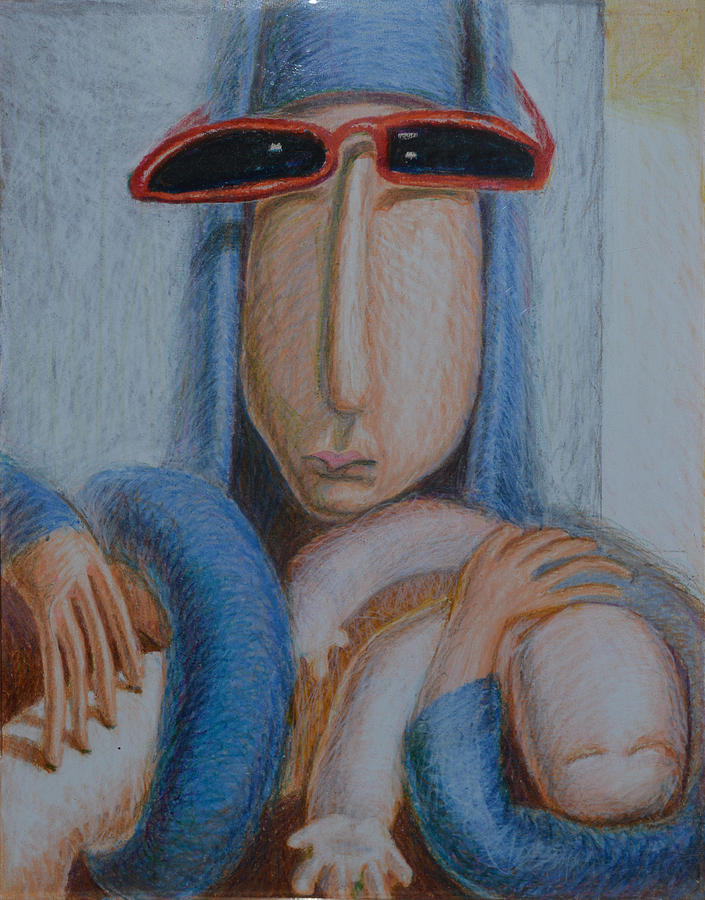 Madonna In Sunglasses Painting by Nancy Mauerman