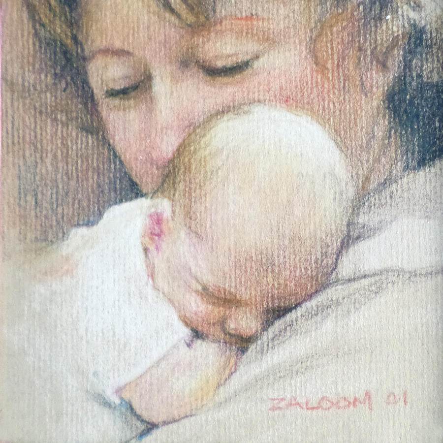 Mother Painting - Madonna by Lorraine Zaloom