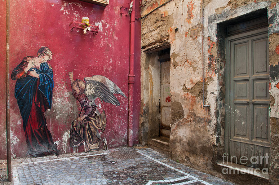 Naples Photograph - Madonna of the Alley by Marion Galt