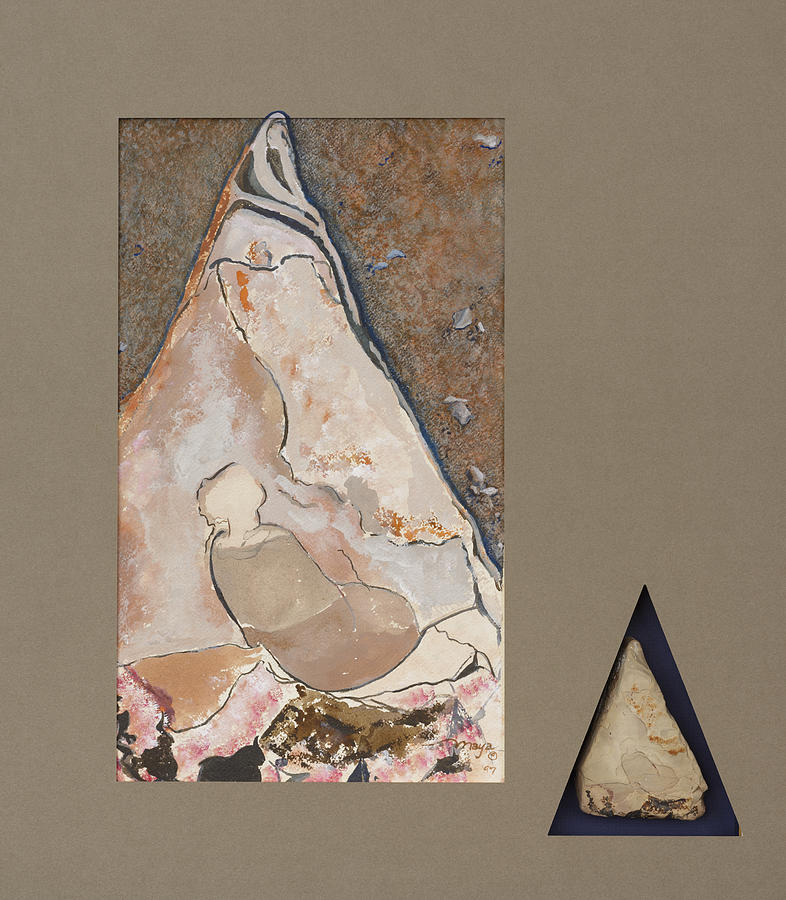 Madonna on a Rock Painting by Illusions Maya