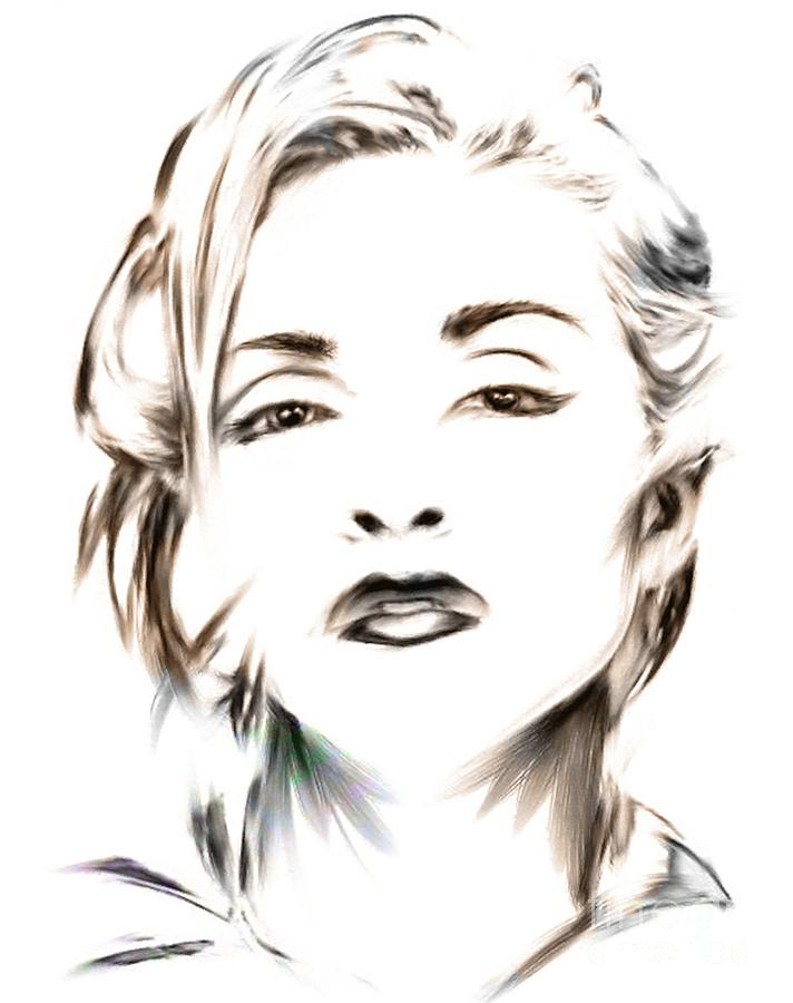 Madonna Mixed Media - Madonna by Wu Wei