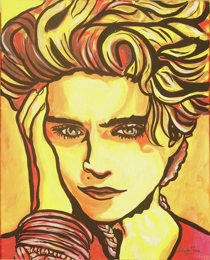 Madonna Painting - Madonnas Fire by Lorinda Fore