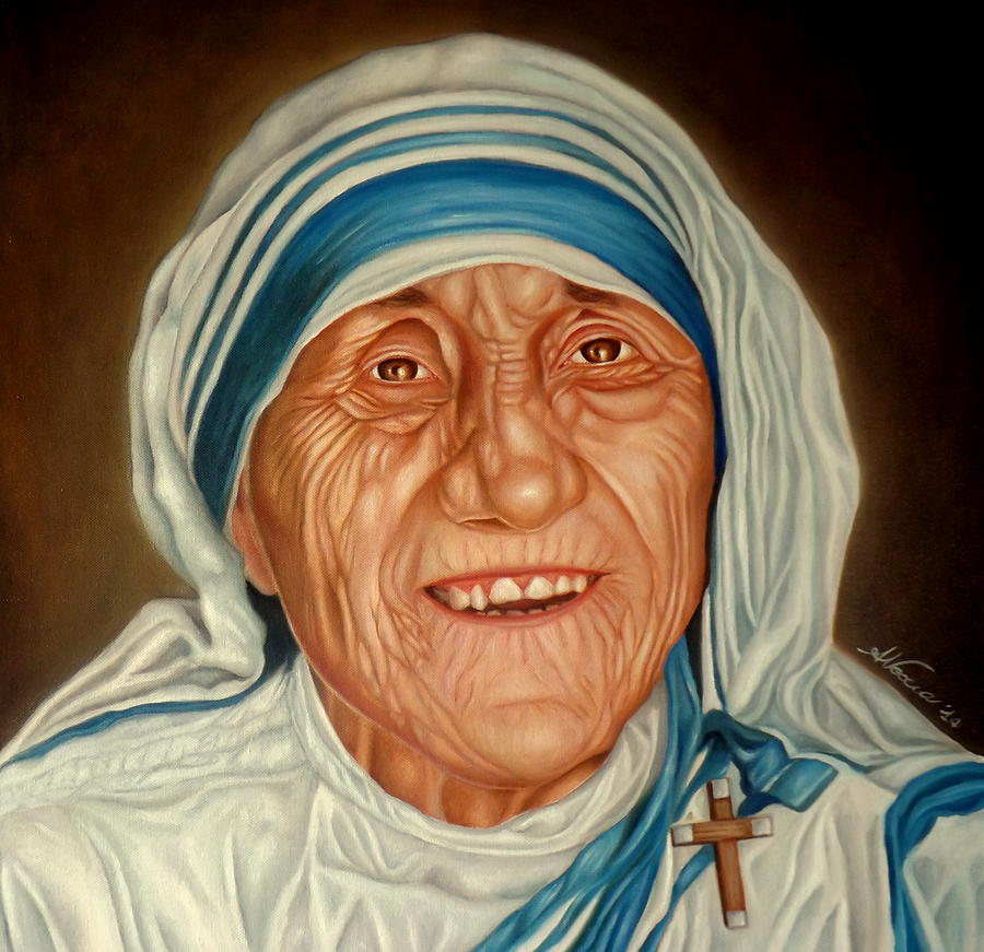 Face Painting - Madre Teresa by Alessandra Veccia