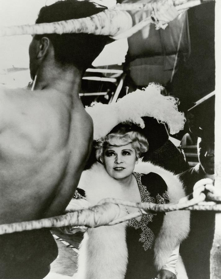 Mae West On The Set Of It Aint No Sin Photograph by George Hoyningen-Huene