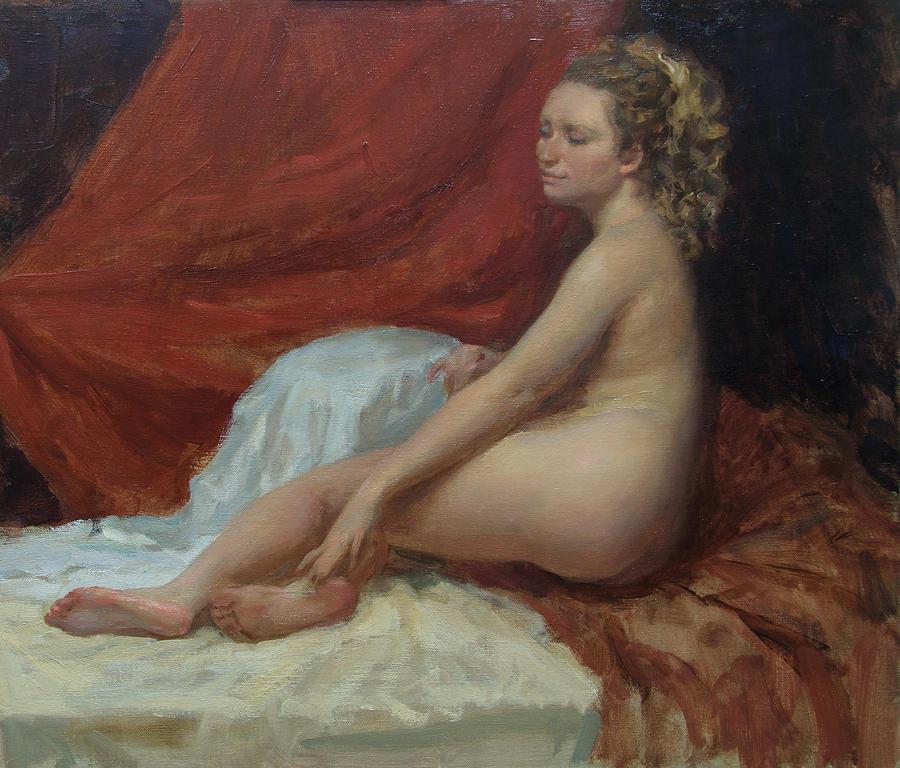 Nude Painting - Magdalena by Korobkin Anatoly