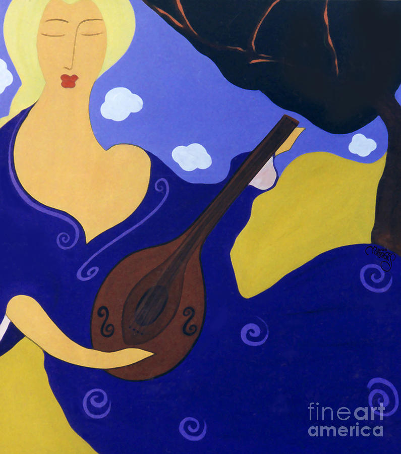 Magdelinas Song Painting by Jacquelinemari