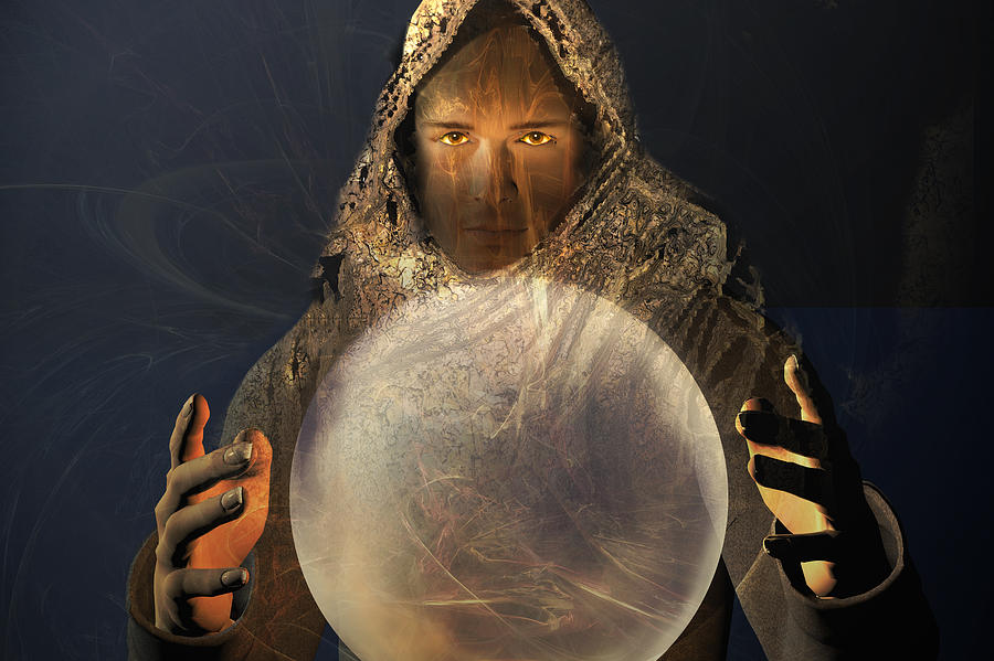 Ball Digital Art - Mage by Carol and Mike Werner