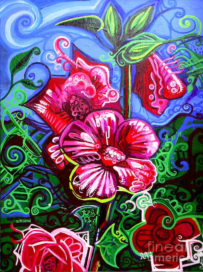Magenta Fleur Symphonic Zoo I Painting