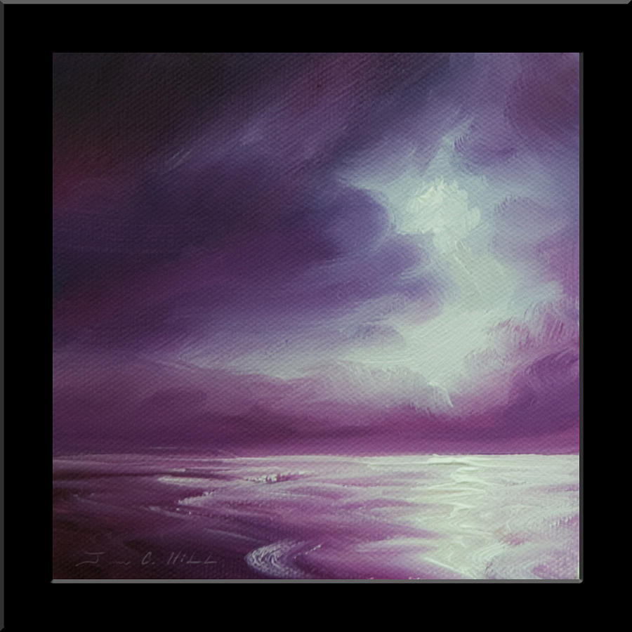 Sunrise Painting - Magenta Moon Iv by James Christopher Hill