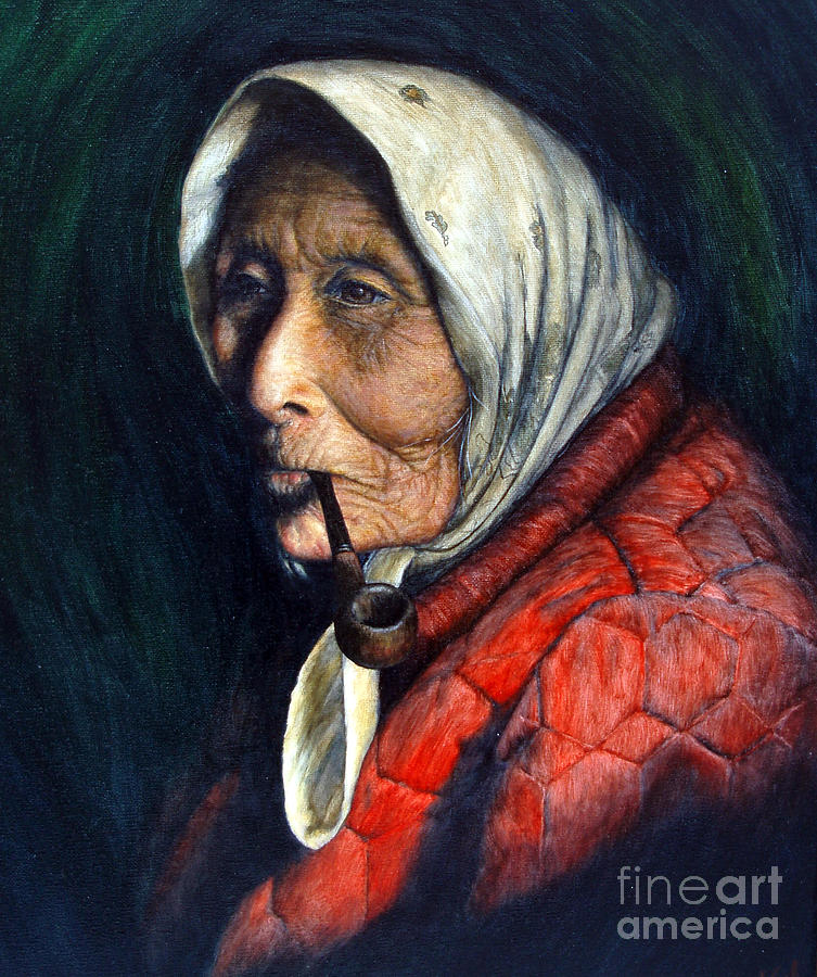 Native Painting - Maggie by Joey Nash