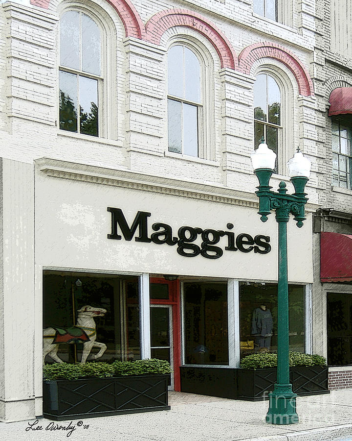 Clothing Store Photograph - Maggies by Lee Owenby