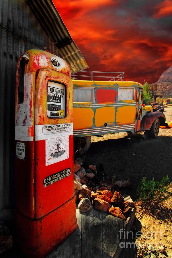 Bus Photograph - Magic Bus Ride by Brenda Giasson
