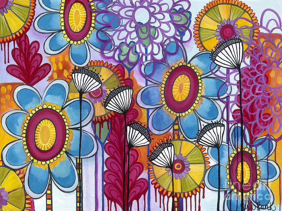 Garden Painting - Magic Garden by Carla Bank