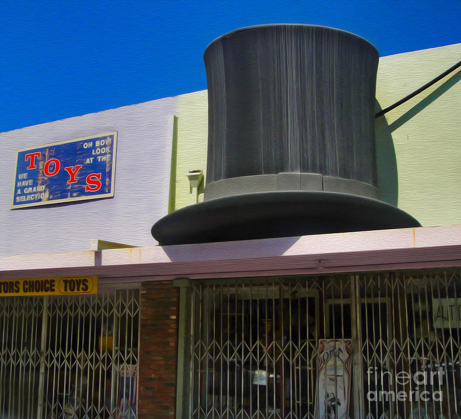 Top Hat Photograph - Magic Hat Toy Shop by Gregory Dyer
