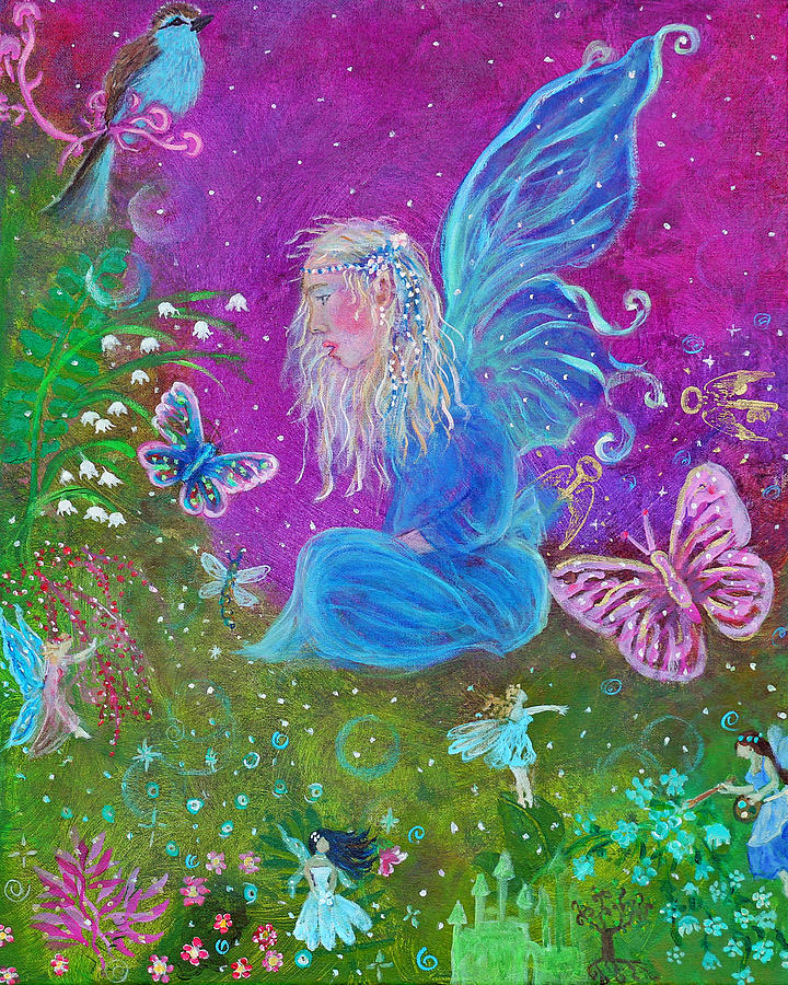 Fairy Painting - Magic Is All Around by The Art With A Heart By Charlotte Phillips