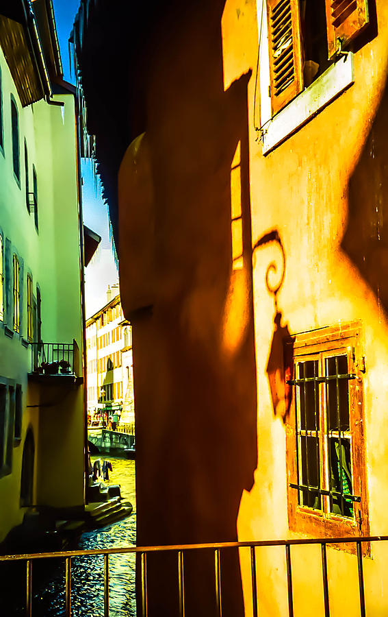 Annecy Photograph - Magic Lantern On The Walls Of Annecy by Jenny Rainbow