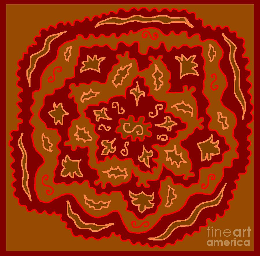 Mandala Digital Art - Magic Mandala2 by Meenal C