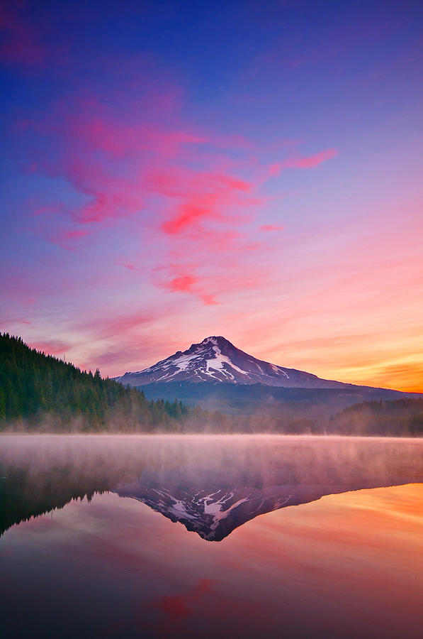 Trillium Lake Photograph - Magic Morning by Darren  White