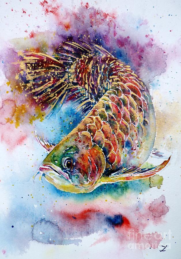 Arowana Painting - Magic Of Arowana by Zaira Dzhaubaeva