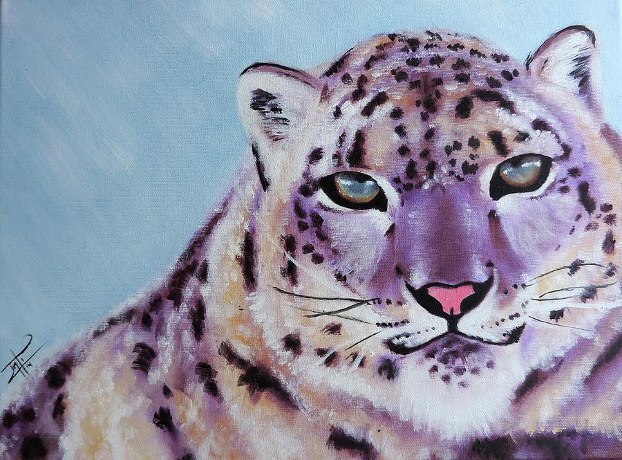 Animal Painting - Magic Snow Leopard by Inti Garcia