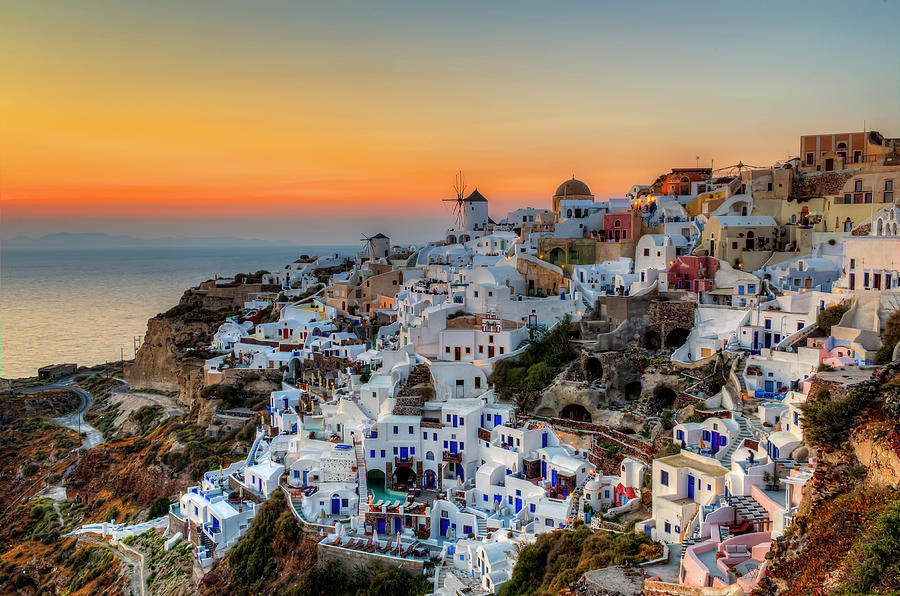 Magic Sunset In Santorini Photograph by George Papapostolou Photographer