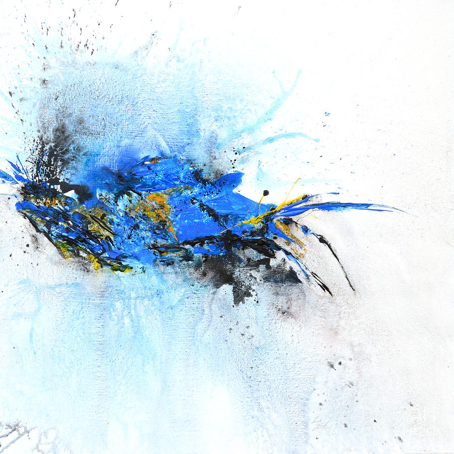 Magic Painting - Magical Blue 1- Abstract Art by Ismeta Gruenwald