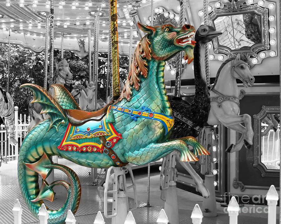 Amazing Photograph - Magical Carousel Seahorse by Sabrina L Ryan