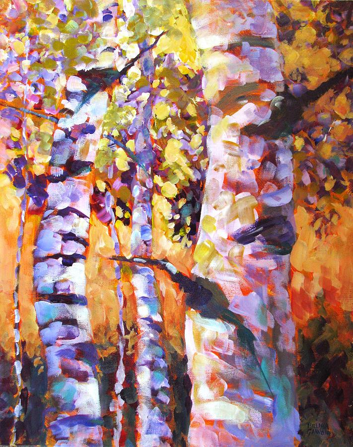 Aspens Painting - Magical Dance Iv by Melissa Gannon