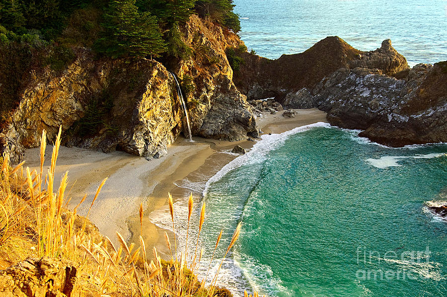 Mcway Falls Photograph - Magical Falls Of Mcway Waterfall At Julia Pfeiffer Burns State Park by Jamie Pham