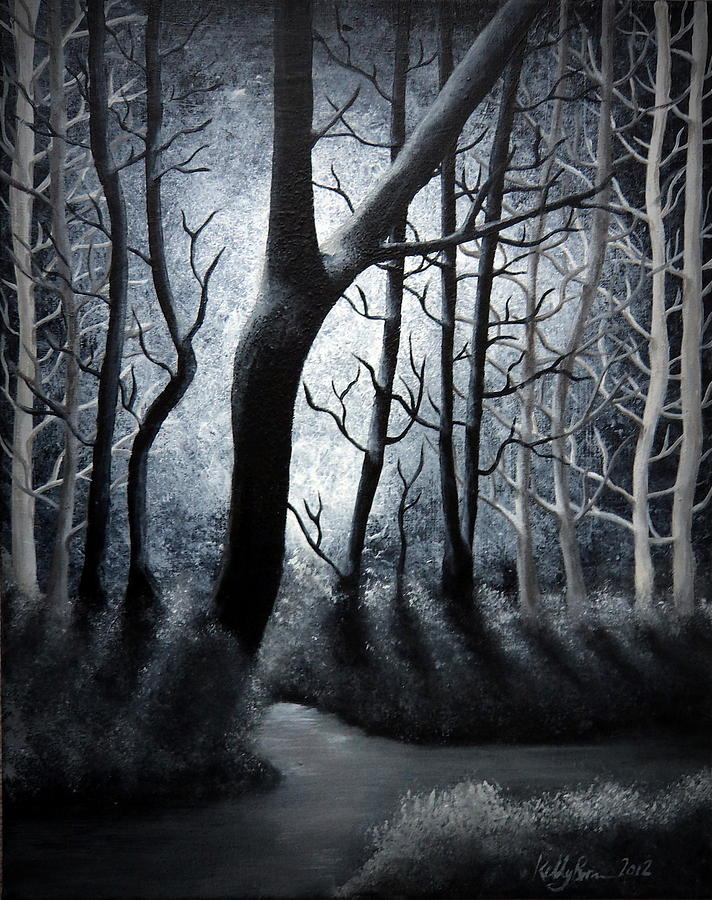 Forest Painting - Magical Forest by Skyrah J Kelly