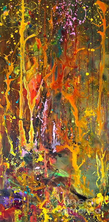 Trees Painting - Magical Forest by Michelle Dommer