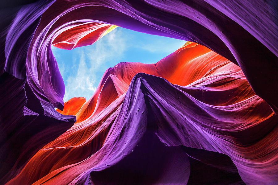 Landscape Photograph - Magical Lower Antelope Canyon by Nanouk El Gamal