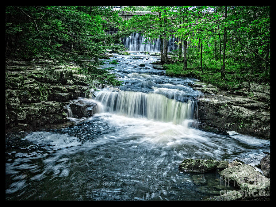 Landscape Photograph - Magical Waterfall Stream by Edward Fielding