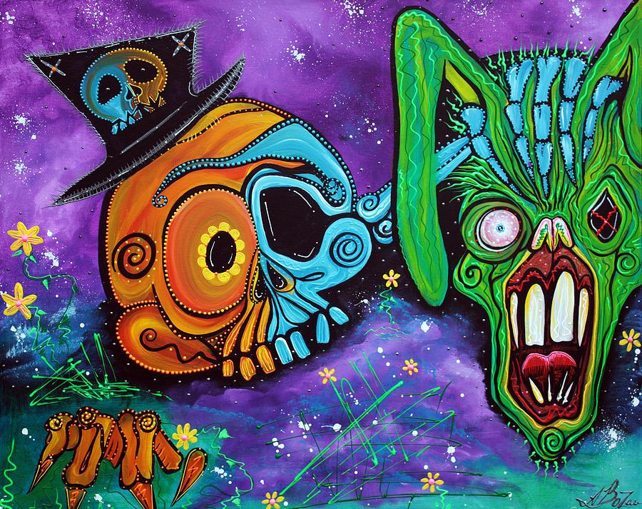 Animals Painting - Magician De Los Muertos by Laura Barbosa