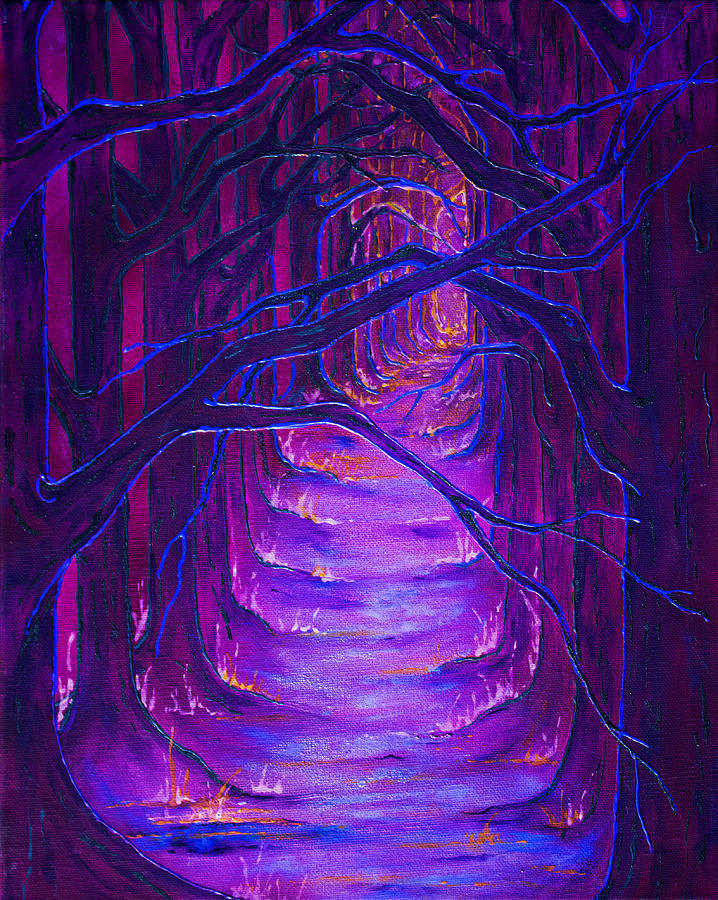 Urban Painting - Magick Forest by Luanna Swaney