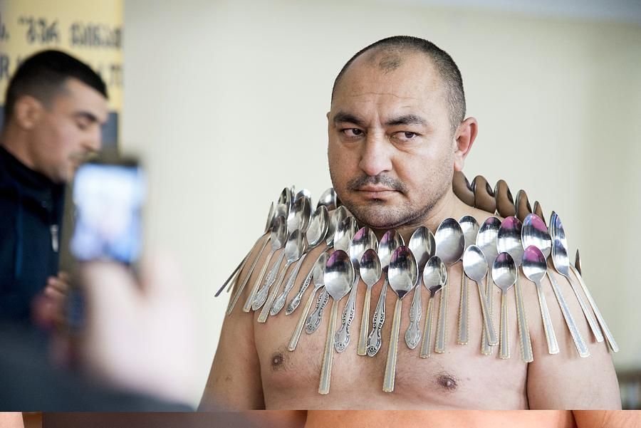 Adult Photograph - Magnet Man World Record Attempt, by Science Photo Library