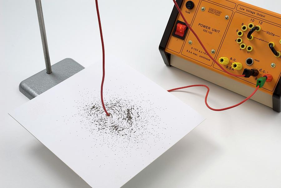 Nobody Photograph - Magnetic Field From An Electric Current by Trevor Clifford Photography
