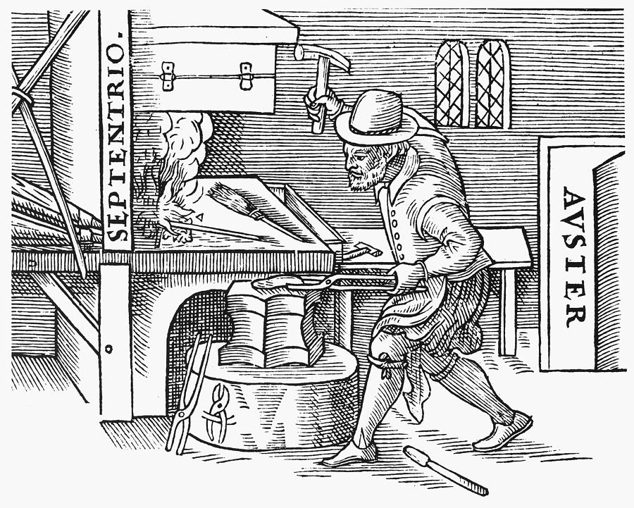 1600 Painting - Magnetizing Iron, 1600 by Granger