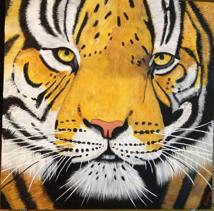 Tiger Painting - Magnificence by Cigdem Cigdem