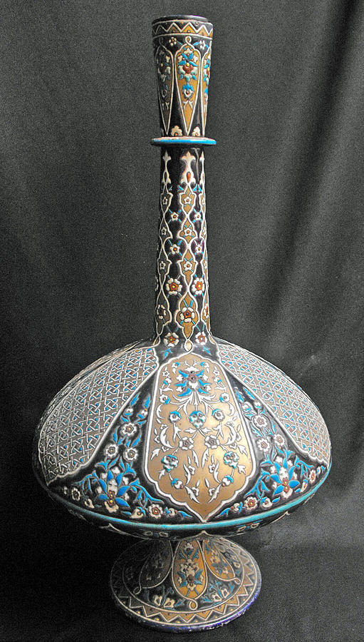 Magnificent Islamic Glass Vase Glass Art By Anonymous