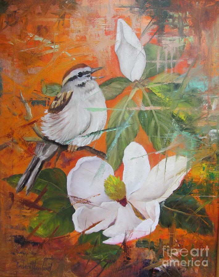 Bird Painting - Magnolia and Bird  by Barbara Haviland