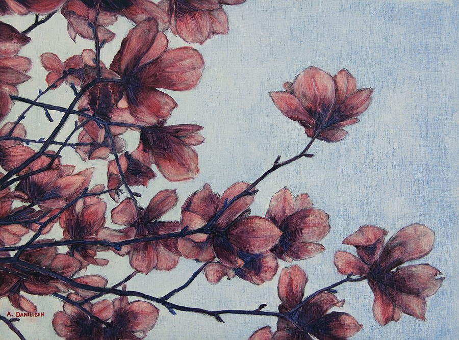 Flower Painting - Magnolia by Andrew Danielsen
