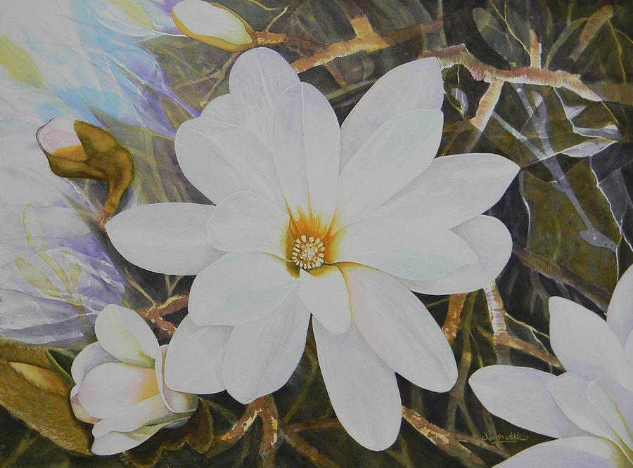 Originals Painting - Magnolia Blossom by Adel Nemeth