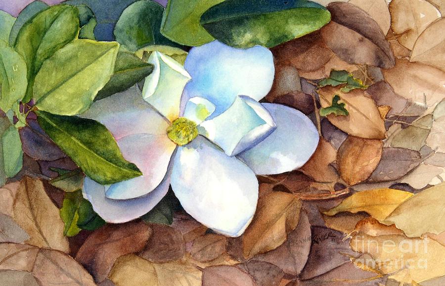 Magnolia Painting - Magnolia by Bonnie Rinier