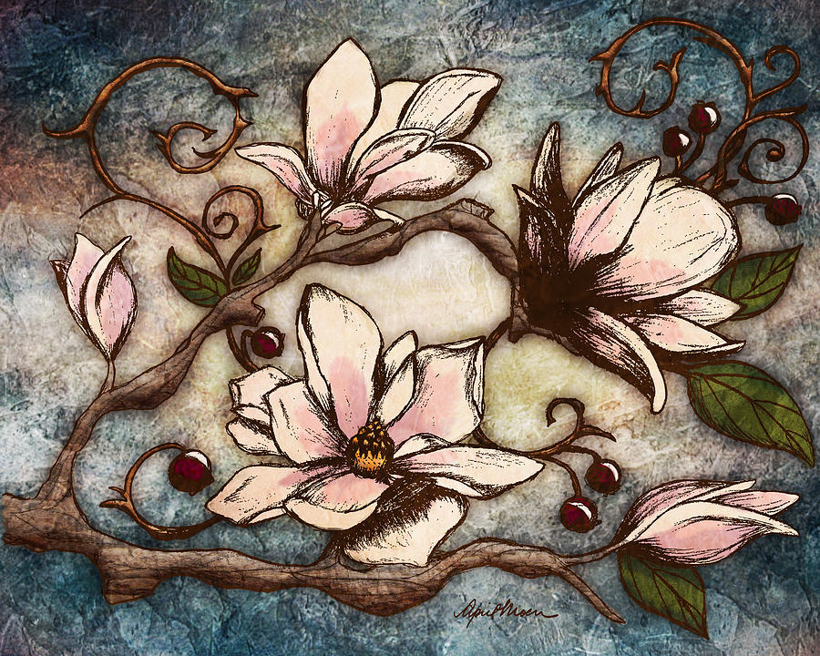 Magnolia Branch I by April Moen