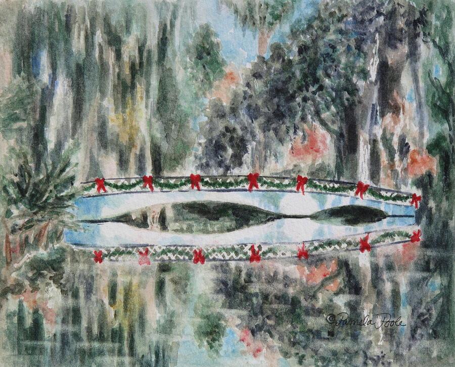 Christmas Painting - Magnolia Christmas by Pamela Poole