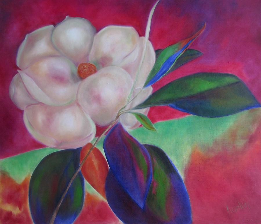 Magnolia Painting - Magnolia I by Susan Hanlon