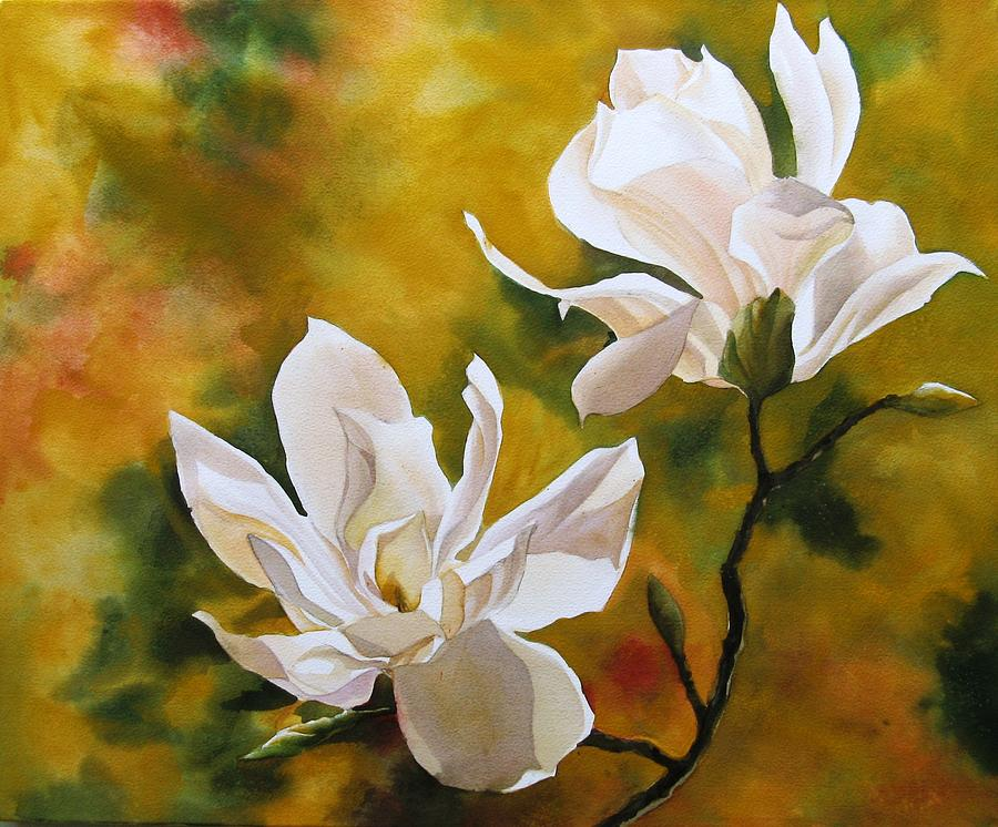 Magnolia In Spring Painting By Alfred Ng