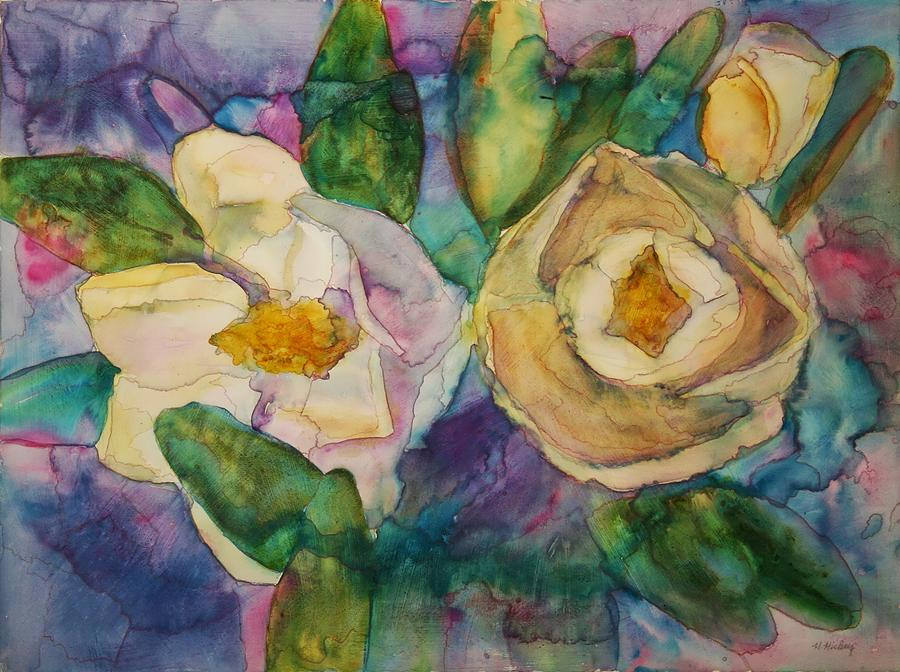 Flowers Painting - Magnolia Kaleidescope by Helen Hickey